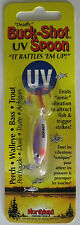 Northland Tackle BUCK-SHOT® UV RATTLE SPOON - 1/8 oz. - Purple Tiger