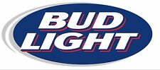 "Bud Light Vinyl Sticker Oval Decal Logo DieCut 9"" 2 Stickers"