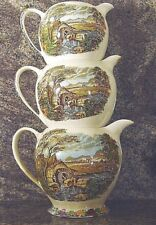 Set of 3 Sadler The Old Mill Design Pitchers Made in England
