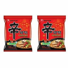 Nong Shim Shin Ramyun Hot Spicy Noodle Soup (Nong Shim-Gourmet Spicy) for 2 bags