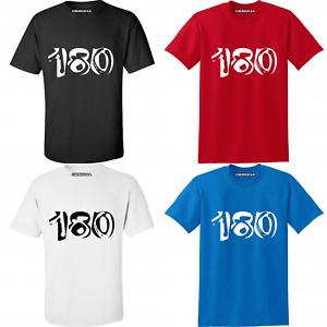 180 Darts T Shirt 4 Colours Sizes Sm-5xl Dart