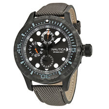 Nautica BFD 100 Multi-Function Black Dial Mens Watch A16683GS