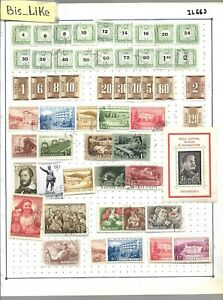 BIS_LIKE:many stamps Hungary used MH/ yellow stains 2 sh. LOT JL 03-669