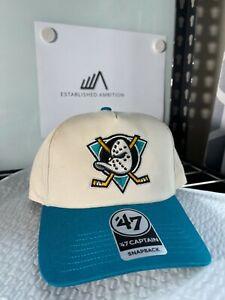 Anaheim Mighty Ducks Vintage 90's Logo 47 NHL Men's Adjustable Snapback Cap Hat