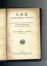 Giovanni Davicini # LEX LEGISLAZIONE ITALIANA-RACCOLTA CRONOLOGICA # UTET 1932