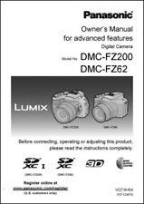 Panasonic Lumix DMC-FZ200 FZ62 Basic Camera Instruction Manual Printed Bound