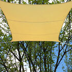 16.5' Foot Square UV Sun Shade Sail Canopy Sand Waterproof Polyester Patio Cover
