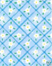 *NEW* White Flower/Blue Giftwrap, 800 ft roll, #313