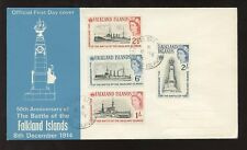 FALKLAND ISLANDS 1964 BATTLE SHIPS ILLUSTRATED FDC