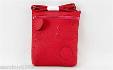 CARLOS FALCHI CORAL 100% LEATHER SHOULDER BAG SIDE POUCH NEW $295.00