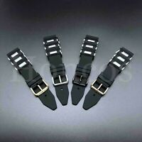 20 - 26 MM Soft Rubber Black Diver Watch Band Strap Fit For INVICTA Bullet 2020