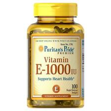 Puritan's Pride Vitamin E 1000 IU Softgels 100 Rapid Release Softgels 1