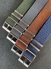 Premium Perlon - Single Pass Nato Watch Straps - 20/22mm (4 colours available)