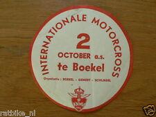 STICKER,DECAL INT. MOTOCROSS BOEKEL 2 OKTOBER 1960