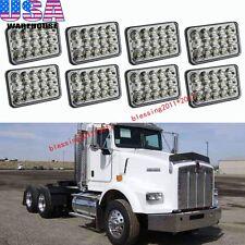 4 Pairs LED Headlights For Kenworth T400 T600 T800 W900B W900L Classic 120/132 A
