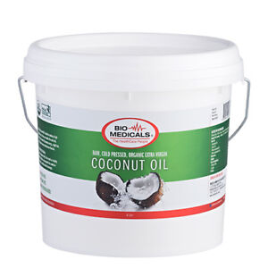 4 Litre Extra Virgin Coconut Oil, 100% Certified Organic Raw & Cold Pressed