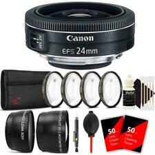 Canon EF-S 24mm f/2.8 STM Lens with Accessory Bundle For Canon 80D, 77D and 70D