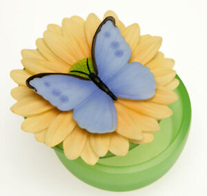 "Ibis & Orchid  -""Blue Butterfly"" Keepsake Boxes ""GORGEOUS"""