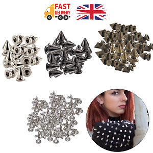 Punk Studs Tree Shape Rivets with Pins for Bags DIY Leathercrafts Clothes 100pcs