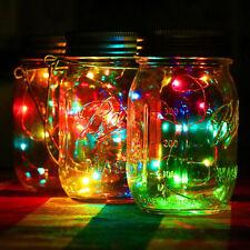 10LED Fairy Light Solar  String für Mason Jar Insert Color Changing Garden Decor