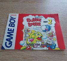Nintendo Gameboy (GB) // Bubble Bobble Part 2 - Anleitung/Instructions //dt. PAL