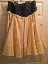 """Genuine Handmade Shabby Chic Boho Country Skirt  Size 8 Waist 30"""""""