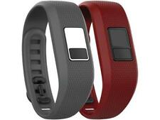 """Garmin Model """"Vivofit 3"""" Replacement Bands SIZE XL Slate Grey & Red 2-Count"""