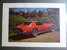 1970 Chevrolet Corvette Coupe Print, Picture, Poster RARE!! Awesome L@@K