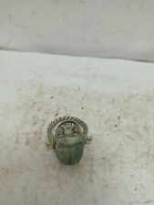 Rare Antique Ancient Egyptian Bronze Ring Scarab Good Luck Hiroglyphic 1547 Bc