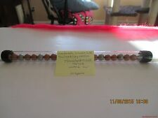 Marbles-Tube of 22-Christmas Colors-Pee Wee Silver and Gold Dyed Clay Marbles#37