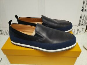 NEW CAR SHOE BY PRADA LEATHER LOAFERS