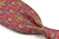 """SALVATORE FERRAGAMO Red Novelty Leopard 100% Silk Mens Luxury Tie - 3.375"""""""