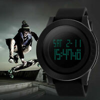 SKMEI Mens Digital Watch Big Face LED Chronograph Alarm Sport Waterproof Watches