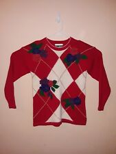 Vintage Dana Scott Christmas Sweater Womens Size Medium Very Good Condition
