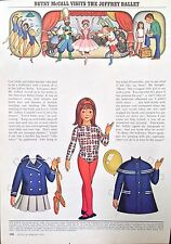 Betsy McCall Mag. Paper Doll, Betsy McCall Visits the Joffrey Ballet, Feb. 1972