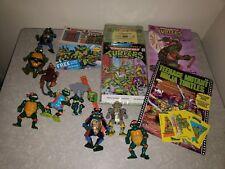 TMNT Vintage Teenage Mutant Ninja Turtles Lot Figures books watch cassette RARE