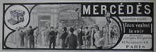 PUBLICITÉ DE PRESSE 1911 MACHINE A ÉCRIRE VISIBLE MERCÉDÈS TOUS VEULENT LA VOIR