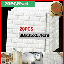 20 Set 3D Tapeten Wandpaneele Selbstklebend Ziegel Wasserfest Wandaufkleber Neu