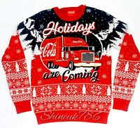 New official CocaCola  Mens Christmas Jumper festive XMAS thin KNITTED Primark