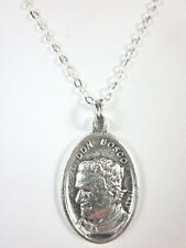 "Ladies St Don Bosco / Mary Help of Christians Medal Necklace 20"" Chain"