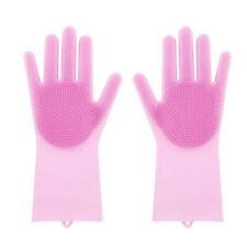 Magic Silicone Cleaning Gloves Heat Resistant Scrubber Washing Brush Scrub Pad