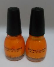 2 SINFUL COLORS Nail Color Polish Limited Time Carded Glitter CLOUD 9  853