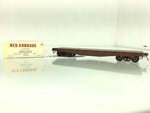 1127 Red Caboose Flat Car Proto 48 O scale 2 Rail San Juan Couplers  Grabowski