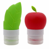 Green Leaf Red Apple Shape Travel Bottle Set Leakproof Squeezable Bottle Case PF