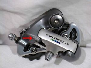 Shimano 600 Ultegra RD-6401 7/8 Spd Rear Derailleur Short Cage, in GREAT SHAPE !