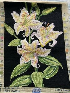 Completed Needlepoint Tapestry Panel