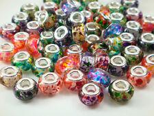 Mix 50pcs murano DIY Jewelry bead fit LAMPWORK European Charm Bracelet beads