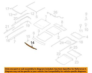 Lincoln FORD OEM 10-15 MKT Sunroof Sun Roof-Weatherstrip Seal AE9Z74503A23A