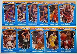 (11) 1990-91 Fleer '90 All-Stars Card Set: Bird Magic Barkley (Missing Jordan)