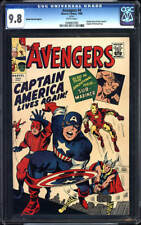 Avengers #4 CGC 9.8 1966 Golden Record! Reprints 1st Captain America! H7 101 cm